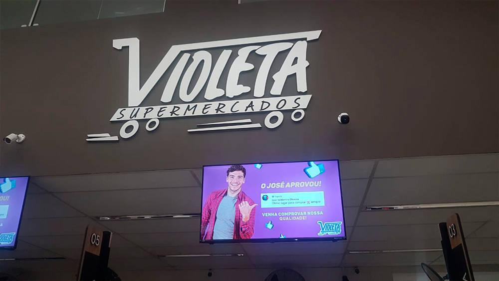 Exemplo de Visual Merchandising da Violeta Supermercados