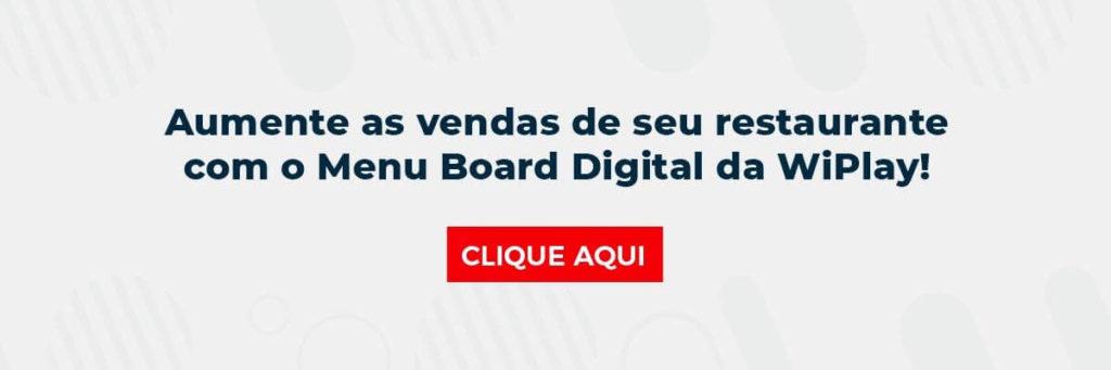 Aumente as vendas de seu restaurante com o Menu Board Digital da WiPlay!