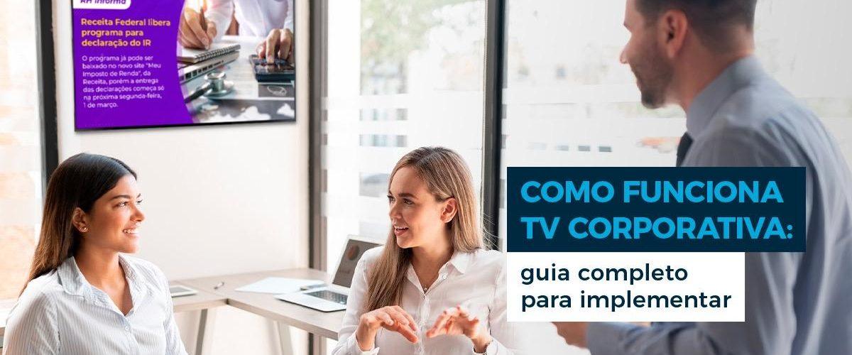 como montar uma TV Corporatova
